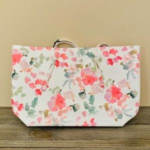 NEW Floral Tote Purse Shoulder Bag Pink & White